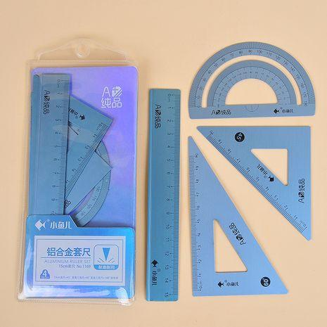 15cm Aluminiumlegierung Student Metall Lineale zufällige Farben Lineal Set NHNU267333's discount tags