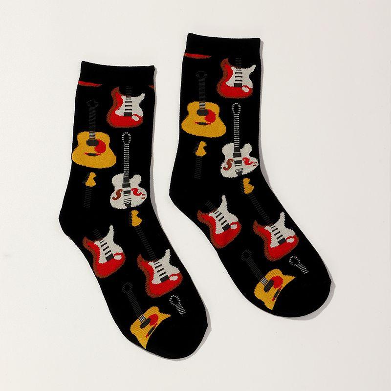 Fashion new guitar socks trend tube socks for women hot-selling NHNU267325