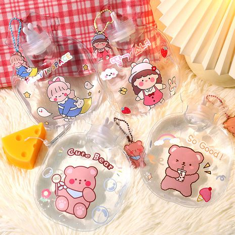 warm water bag lucky girls transparent hot water bottle injection pendant 400ml hand warmer NHHE266898's discount tags