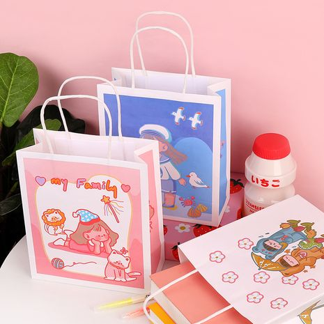 Fashion new simple portable Korean square paper packaging bag NHHE266896's discount tags