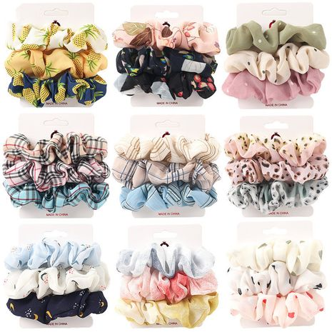 simple fabric chiffon large intestine hair scrunchies combination intestine ring suit NHQC278121's discount tags
