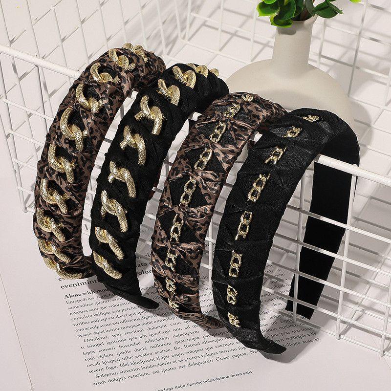 alloy metal chain winter headband hair accessories  NHQC278118