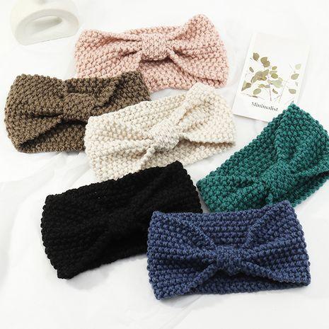 Koreanische Wolle gestrickt Bowknot wild reine Farbe Stirnband NHAU280587's discount tags