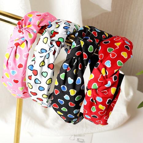 nuevo conjunto de diadema de tela estampada con amor coreano NHNU280615's discount tags