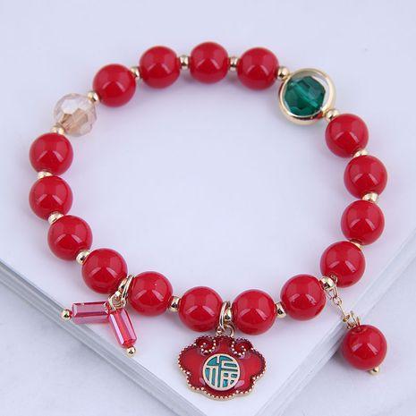 Bracelet de perles rouges douces à la mode coréenne NHSC281733's discount tags