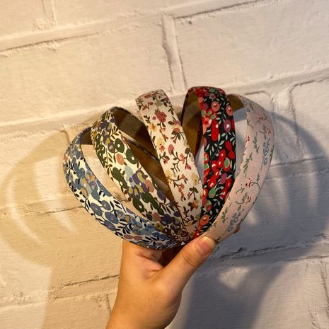 retro floral fabric headband NHCL280636's discount tags
