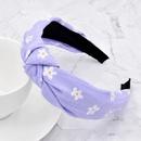 plum blossom print fabric knotted headband NHCL280640