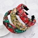 Christmas woolen snowflake fashion knotted headband NHCL280656