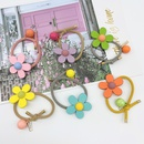 cute candycolored flower wooden hair rope NHCU280663