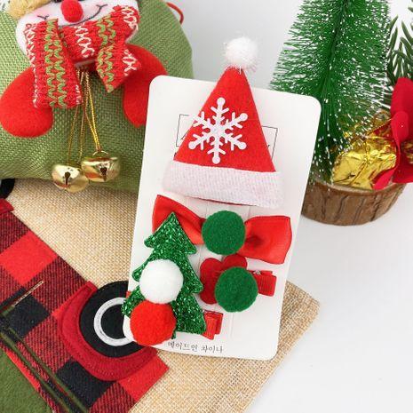 Chapeau de Noël pour enfants Elk Bow épingle à cheveux 4 pièces NHCU280666's discount tags