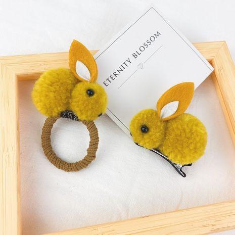 plush rabbit hairpin hair rope NHCU280676's discount tags
