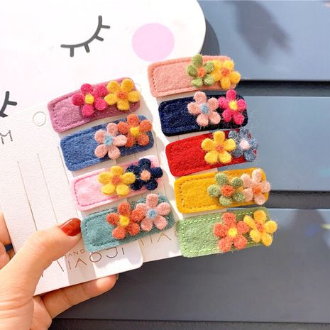 Korean cloth square flower hairpin NHCU280677's discount tags