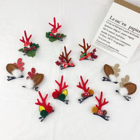 Creative cute Christmas antler hairpin NHCU280680's discount tags