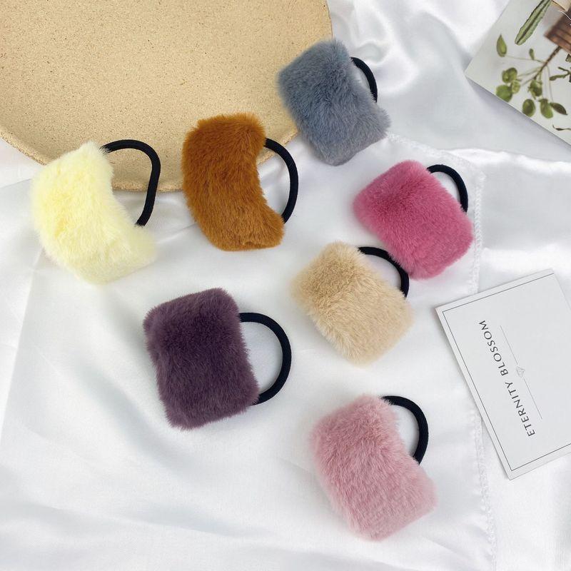 candy color imitation rabbit hair hair rope  NHCU280686