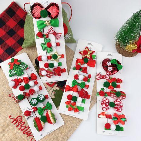 Christmas hat Christmas tree love hairpin set  NHCU280694's discount tags