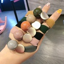 Korean simple candy color bead leather hair ring  NHCU280699