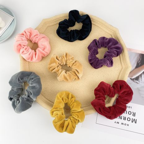 Scrunchies coreanos del pelo del terciopelo de la tela del intestino grueso NHCU280704's discount tags