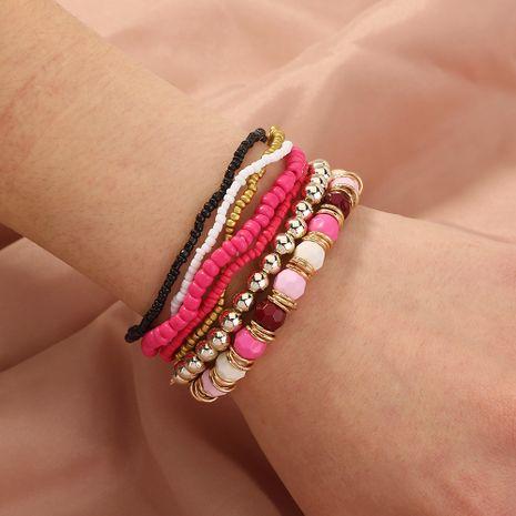 Bracelet en perles de riz multicouche de style ethnique bohème rétro NHAN280864's discount tags