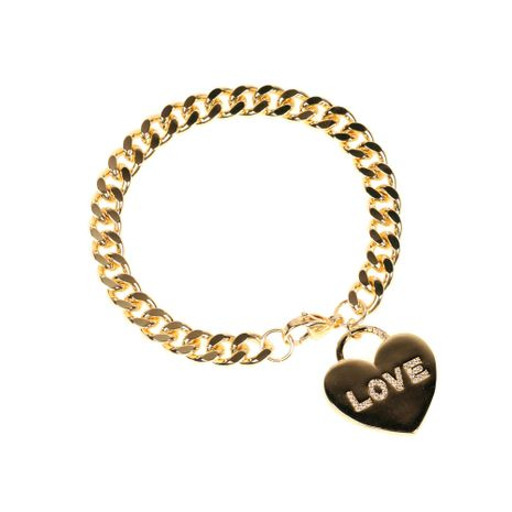 copper plated real gold diamond  love bracelet NHPY280875's discount tags