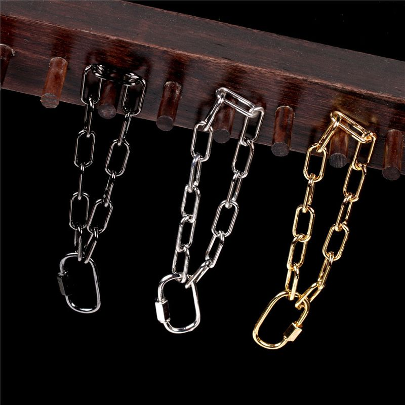 punk hiphop style thick chain bracelet  NHPY280879