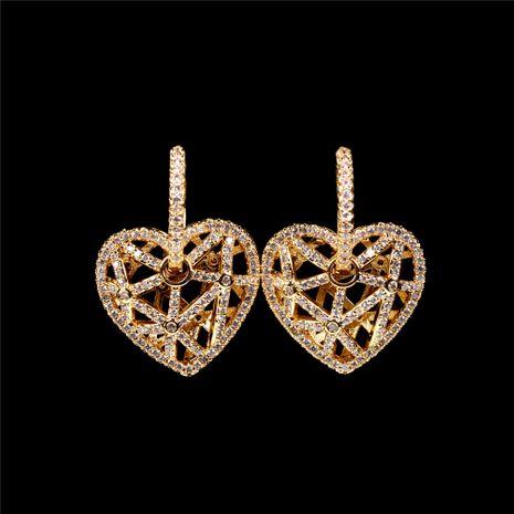 boucles d'oreilles en diamant à la mode coeur creux NHPY280886's discount tags
