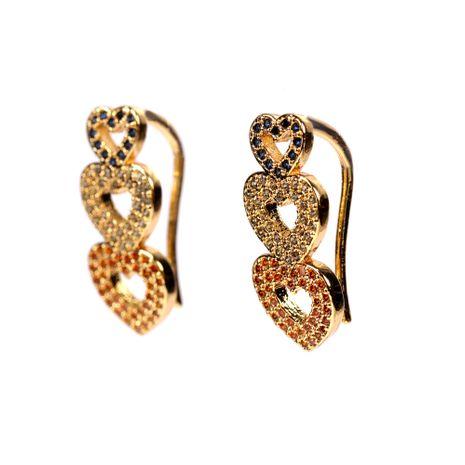 boucles d'oreilles en forme de coeur NHPY280889's discount tags