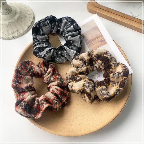 fashion new simple plaid large intestine hair scrunchies   NHOF280904's discount tags