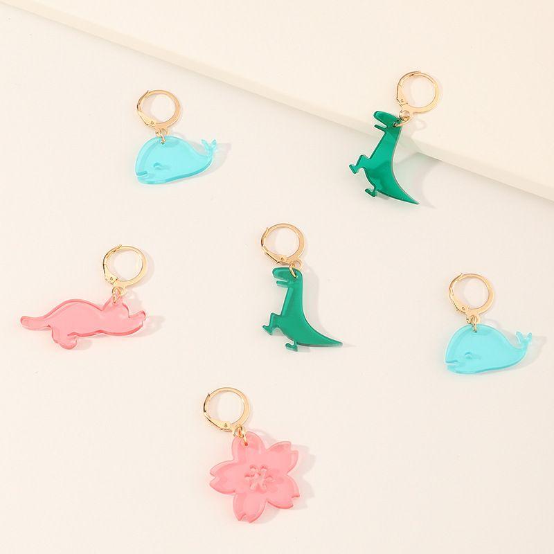 children tropical forest animal sweet earrings  NHNU280920