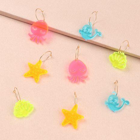 boucles d'oreilles colorées animaux marins pour enfants NHNU280922's discount tags