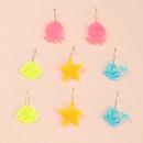 boucles d39oreilles colores animaux marins pour enfants NHNU280922