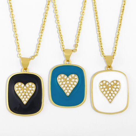 hot selling creative love dripping geometric pendant necklace NHAS280941's discount tags