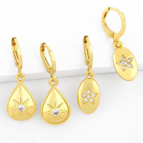 geometric drop earrings  NHAS280949's discount tags