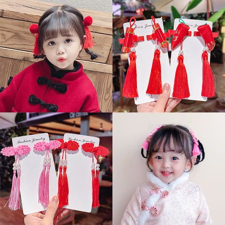 Chinese style children's tassel hairpin  NHNA281001's discount tags