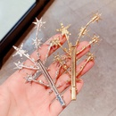 pingle  cheveux toile  cinq branches en strass Gypsophila NHNA281017
