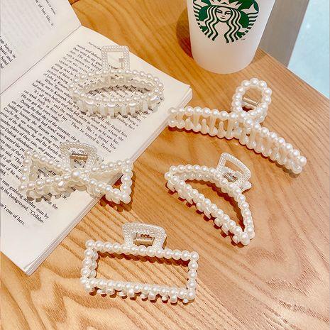 Épingle à cheveux creuse rétro perle imitation coréenne NHNA281018's discount tags