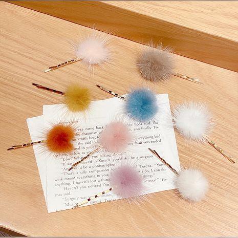 plush hair ball hairpin  NHNA281019's discount tags