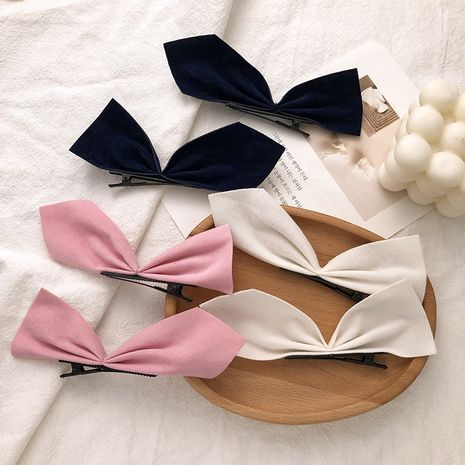 suede cat ears sweet solid color hairpin  NHNA281023's discount tags