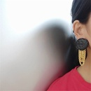 Koreas new exaggerated long chain tassel  earrings NHYQ281028