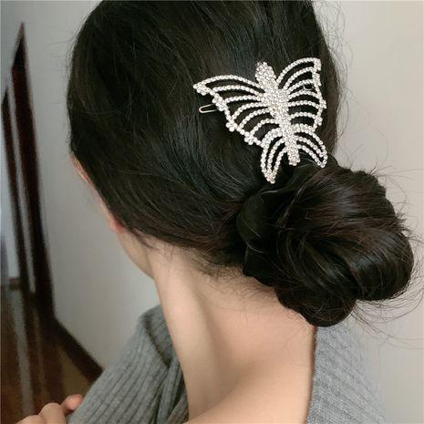 diamond retro hollow big butterfly hair clip NHYQ281034's discount tags