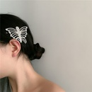diamond retro hollow big butterfly hair clip NHYQ281034