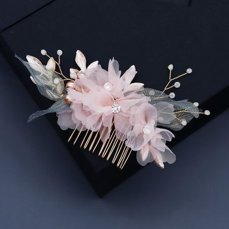 handmade cloth flower  hair comb NHHS281063's discount tags