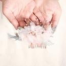 handmade cloth flower  hair comb NHHS281063