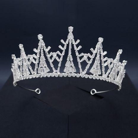 Bridal  rhinestone  crystal zircon crown NHHS281065's discount tags