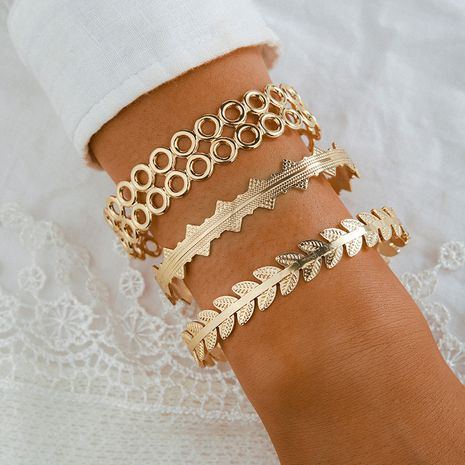 metal exaggerated bracelet set 4-piece  NHGY281070's discount tags