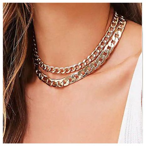 multi-layer golden thick chain necklace  NHCT281082's discount tags