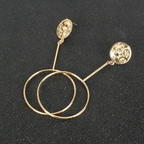 golden alloy round earrings  NHCT281103's discount tags