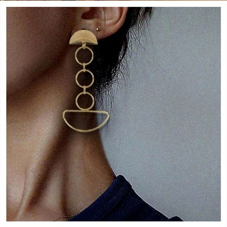 Retro alloy geometric ring long earrings NHCT281105's discount tags
