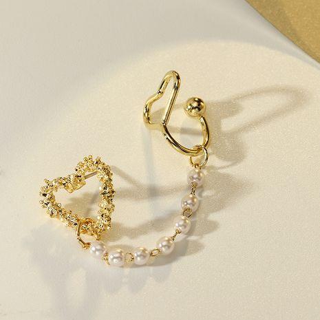 clip d'os d'oreille de perle de coeur exquis de mode NHNZ281124's discount tags