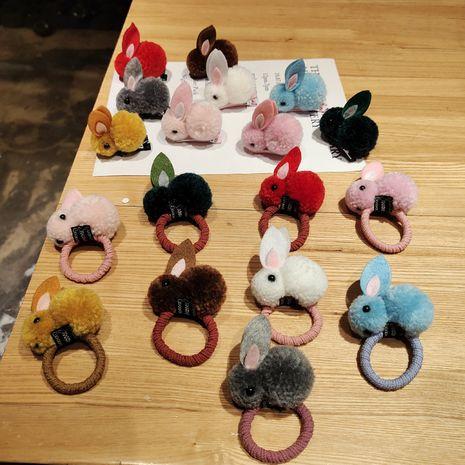 cute bunny cartoon hair rope  NHDM281140's discount tags