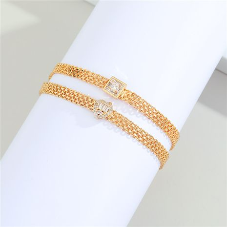 new real gold plated diamond bracelet  NHGO281150's discount tags